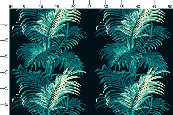 Palm fabric design scale, inches