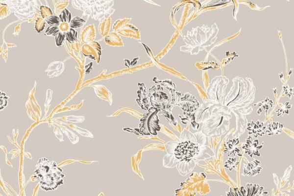 Carnation, dust cloud, Florence Broadhurst fabric