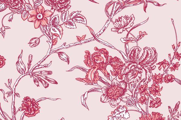 Carnation, fiesta, Florence Broadhurst fabric