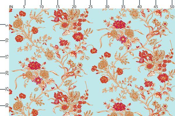 Florence Broadhurst Carnation fabric, summer