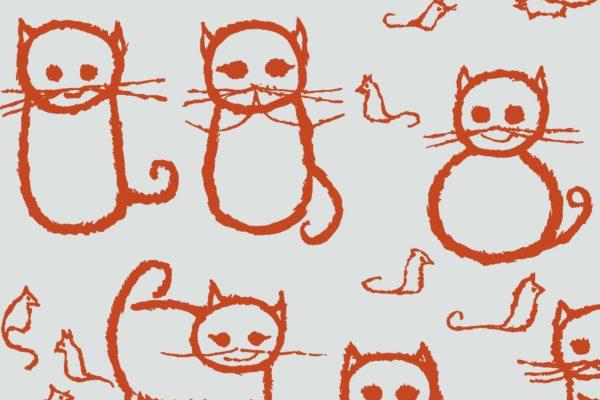 Cats, oranges, Florence Broadhurst fabric, kids fabrics