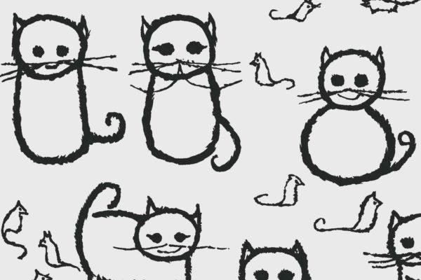 Cats, tar, Florence Broadhurst fabric, kids fabrics