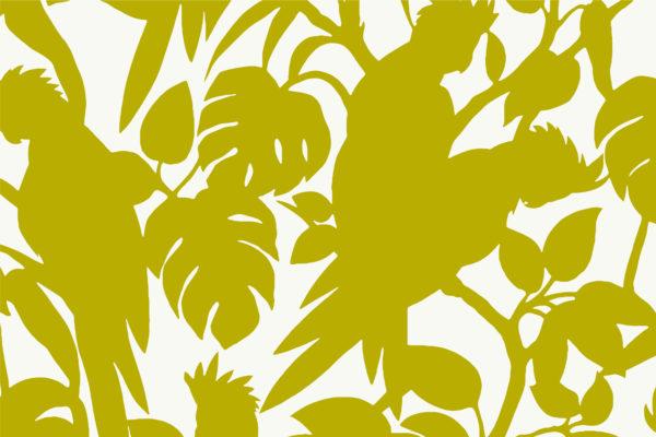 Cocktoos, lime, Florence Broadhurst fabric