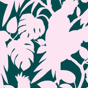 Cockatoos, lush, Florence Broadhurst fabric