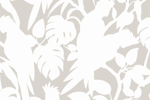 Cockatoos, shell, Florence Broadhurst fabric