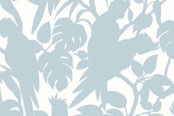 Cockatoos, sky, Florence Broadhurst fabric