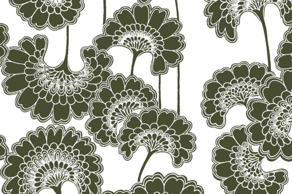 Japanese Floral, licorice, Florence Broadhurst fabric