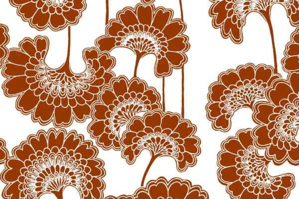Japanese Floral, redwood, Florence Broadhurst fabric