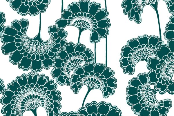 Japanese Floral, triton, Florence Broadhurst fabric