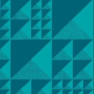 Pyramids, beach blue, Florence Broadhurst fabric