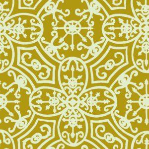 Spanish Plate, acidic, Florence Broadhurst fabric