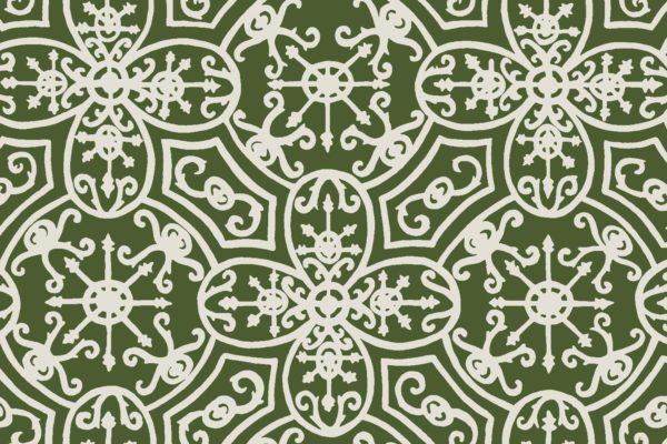 Spanish Plate, fern, Florence Broadhurst fabric