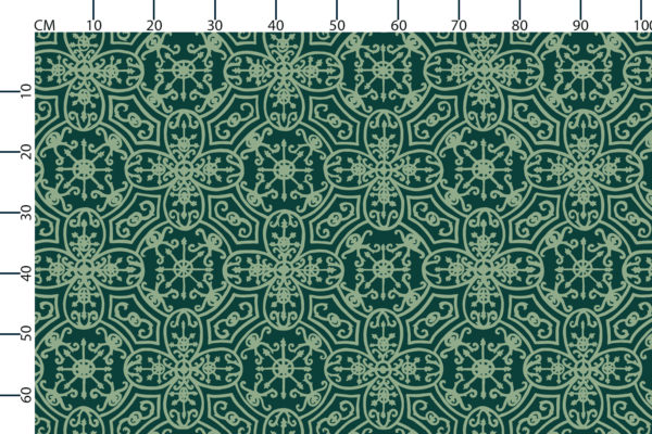 Spanish Plate fabric design scale, centimetres