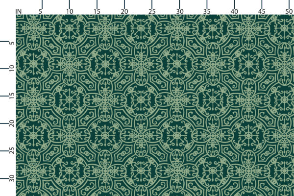 Spanish Plate fabric design scale, inches