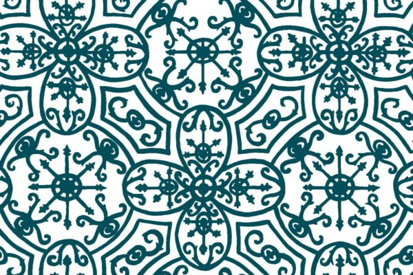 Spanish Plate, kingfisher, Florence Broadhurst fabric