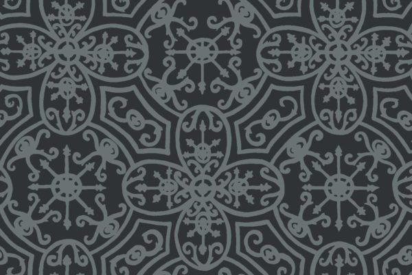 Spanish Plate, slate, Florence Broadhurst fabric