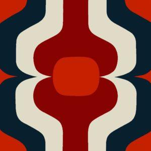 Swedish Stripe, autumn, Florence Broadhurst fabric
