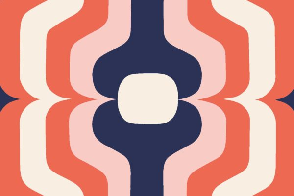 Swedish Stripe, candy, Florence Broadhurst fabric