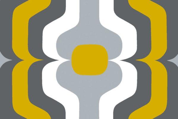 Swedish Stripe, mustard, Florence Broadhurst fabric
