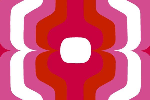 Swedish Stripe, rose, Florence Broadhurst fabric