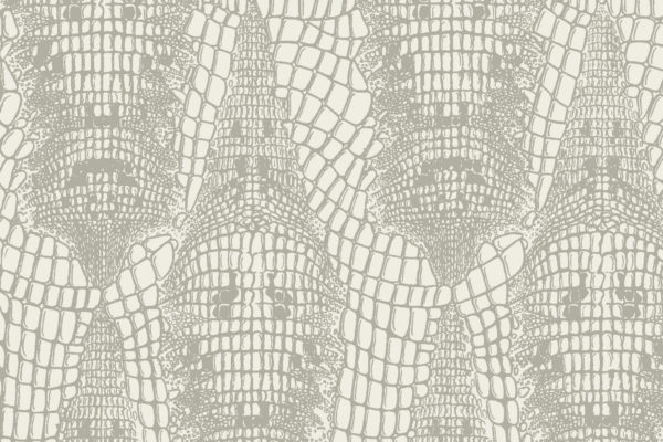 Crocodile fabric, Stone, Florence Broadhurst Fabrics