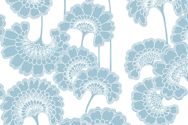 Japanese Floral fabric, Dolphin, Florence Broadhurst Fabrics