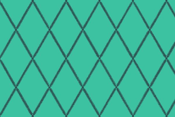 Lattice Leaf, Aqua, Florence Broadhurst Fabrics