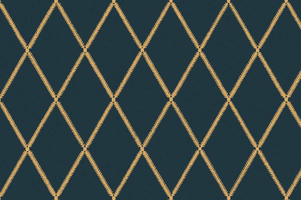 Lattice Leaf, Blue Dijon, Florence Broadhurst Fabrics