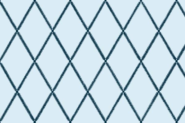 Lattice Leaf, Denim, Florence Broadhurst Fabrics