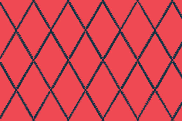 Lattice Leaf, Flamingo, Florence Broadhurst Fabrics