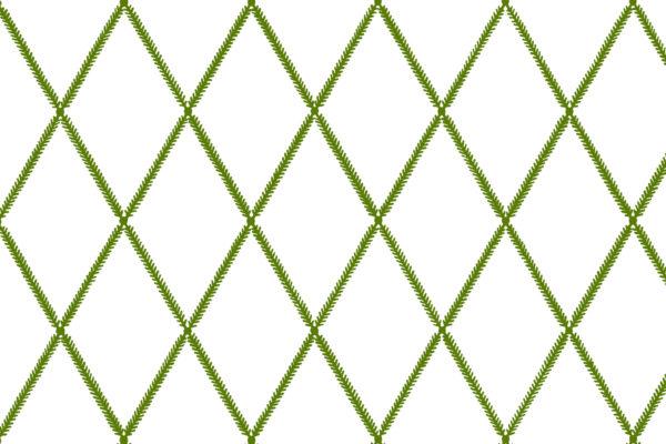 Lattice Leaf, Lime, Florence Broadhurst Fabrics