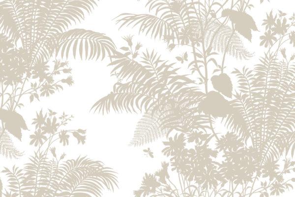 Shadow Floral fabric, birch, Florence Broadhurst Fabrics