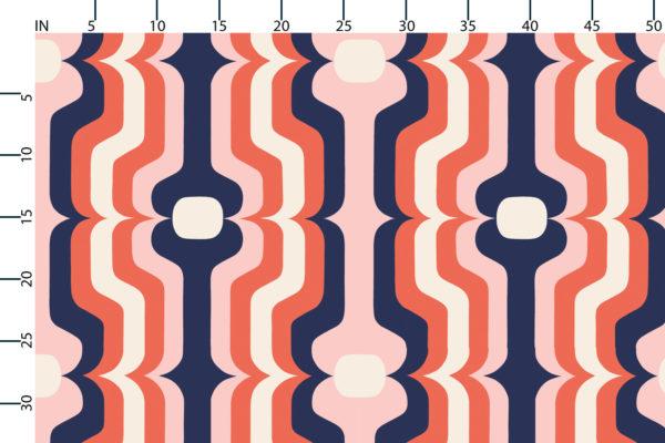Swedish Stripe fabric design scale, inches