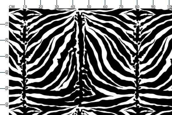 Tiger stripe fabric, scale in centimetres