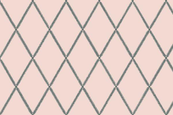 Lattice Leaf, Blush, Florence Broadhurst Fabrics