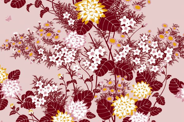 Chinese Floral Blossom, Textiles