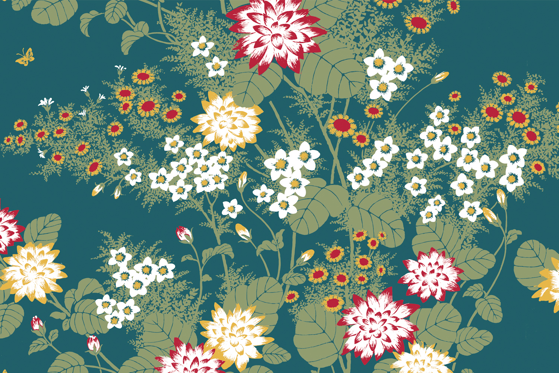 Chinese Floral Fabric Florence Broadhurst Fabrics
