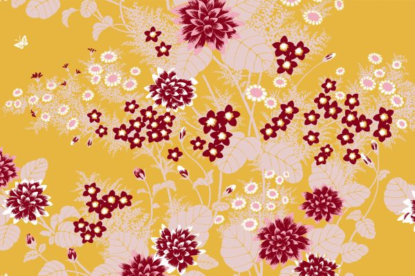 Chinese Floral Honey, Textiles
