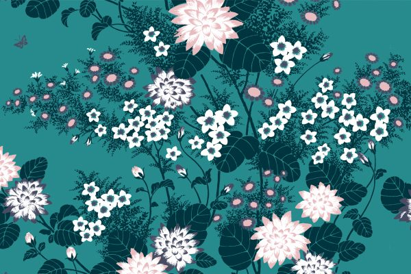 Chinese Floral Jade, Textiles