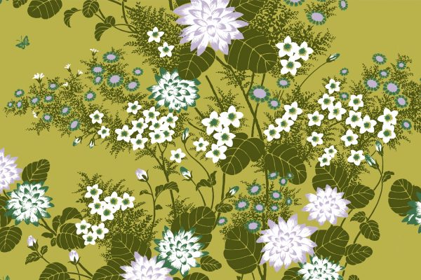 Chinese Floral Pea, Textiles