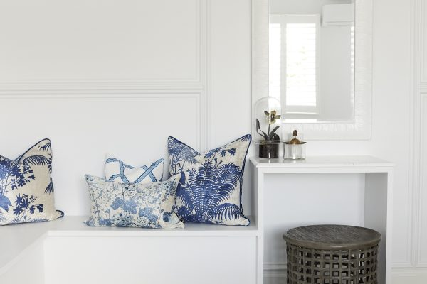 Cushion covers, Three Birds Renovations, Florence Broadhurst Fabrics