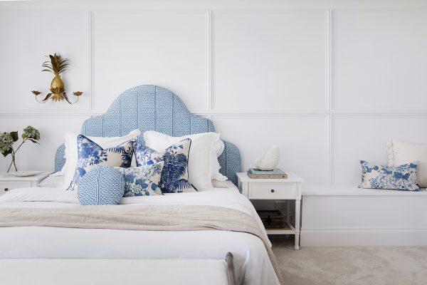 Master bedroom suite, Three Birds, Florence Broadhurst textiles