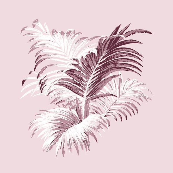 4 Colour Palm Ribbon, Florence Broadhurst, framed canvas art