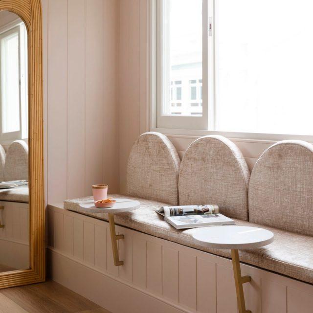 Three Birds Renovations, House 12, Hessian Pavlova, bench seat